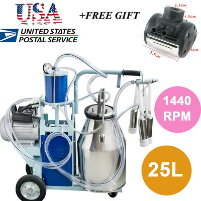 【USA】COW Milker Electric Milking Machine For Cows Farm Portable Wheels