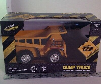 Kid Galaxy Remote Control Dump Truck. 6 Function RC Construction Toy Vehicle