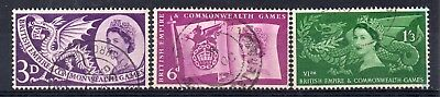 GB = 1958 Commonwealth Games. Set/3. SG 567/569. Very Fine Used.