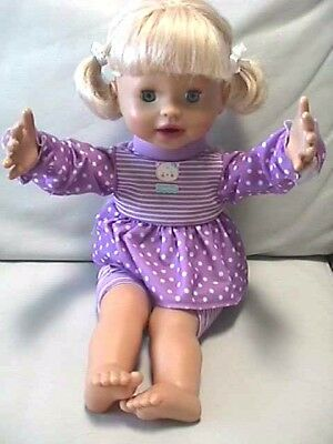 "Mattel 16"" Little Mommy My Very Real Baby Interactive Doll"