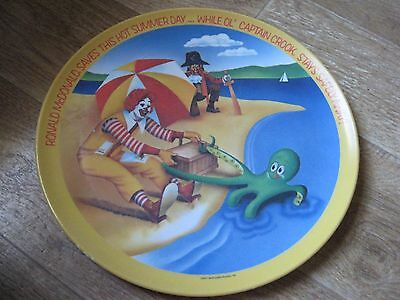 Vintage 1977 Ronald McDonald Plate-Summer Day with Captain Crook McDONALDS PLATE