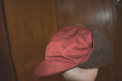 Vintage 1950s 1960s Boys' Billed Cap with Ear Flaps