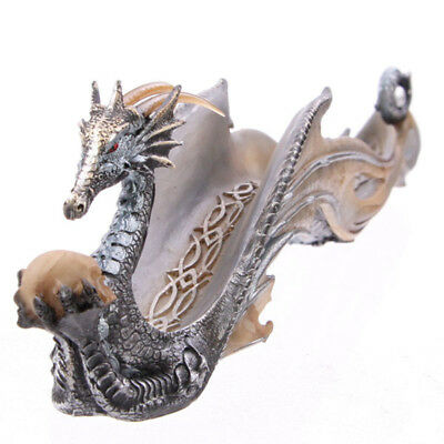 Celtic Fantasy Dragon Incense Stick Holder Ash catcher Home Fragrance Decoration