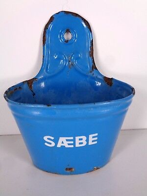 Vintage Enamelware Soap Holder French Farm Country Primitive Decor