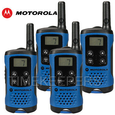 4Km Motorola TLKR T41 Walkie Talkie 2 Two Way PMR 446 Compact Radio Set Quad