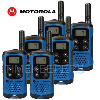 4Km Motorola TLKR T41 Walkie Talkie 2 Two Way PMR 446 Compact Radio Set Six