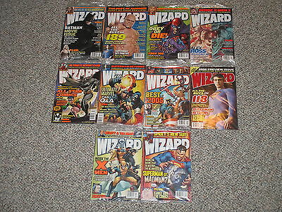 Lot of 10 Wizard Magazine Back Issues 164 165 166 167 168 170 171 172 173 174