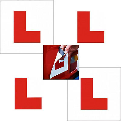 Learner 2x Magnetic Red L Sign Car Plate Stickers Vehicle Road Safety Sticker