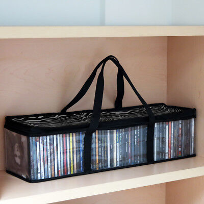 Evelots Set Of 2 Portable Zebra Print CD Media Storage Bags, Each Holds 45 CDs