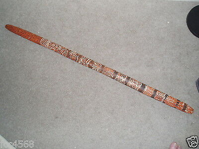 Aboriginal Artifacts Large Nulla Nulla Or Fighting Stick Dot Painted Ceremonial