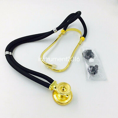 Professional surgical Medical stethoscope Golden color surgical medical device