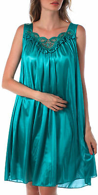 Milan Fashion® Sexy Silky Luxurious Women Nightgown With Embroidery Design #M6