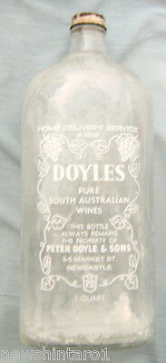 #nn.  Rare Newcastle Bottle - Doyles Wines Home Delivery Service, Empty