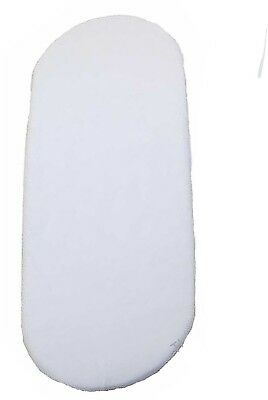 1x Moses Basket 100% Cotton Fitted Sheet White