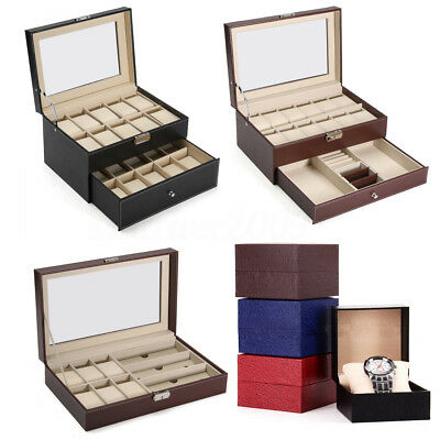 PU Leather 6122024 Slot Wrist Watch Display Box Storage Holder