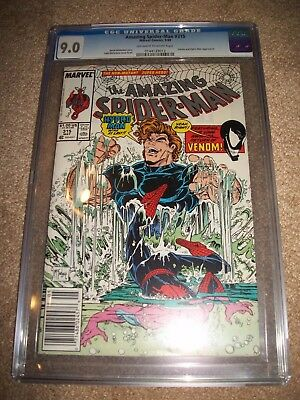 Amazing Spider-man #315 Nice CGC 9.0 Todd McFarlane Key Hydro Man 2nd Venom WOW!