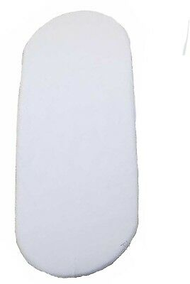 Moses Basket Fitted Sheet White