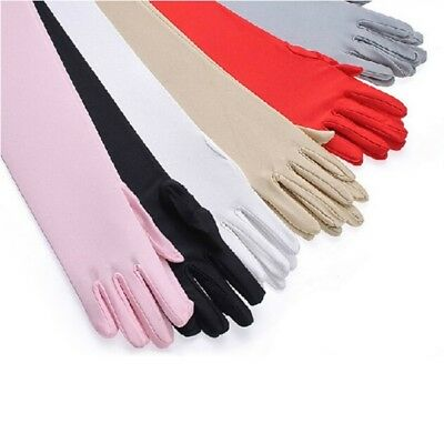 Lady UV Protection Golf Driving Arm Sleeve Stretch Sun Block Sunscreen Gloves