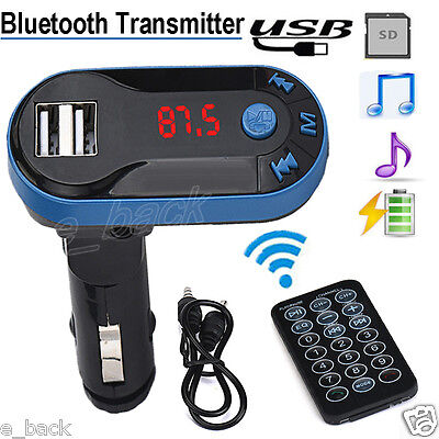 Kit Voiture Bluetooth Transmetteur FM sans fil LCD main libre mp3 chargeur USB