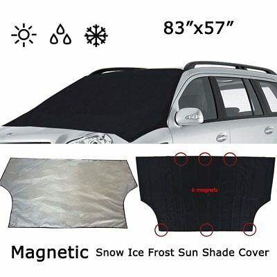 Car Truck Windshield Snow Cover Ice Frost Sun Shade Protector Tarp Flap Magnetic
