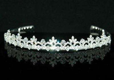 Bridal Wedding Sparkling Rhinestone Crystal Tiara AT1251
