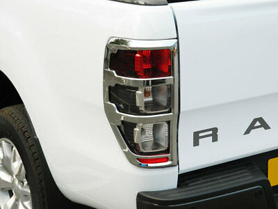 Ford Ranger  2012 On Chrome Trim Tail Lamp Light  Surrounds