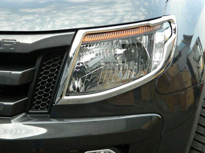 Ford Ranger 2012 To 2016 Chrome Trim  Head Lamp Light  Surrounds