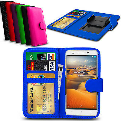 Clip On PU Leather Flip Wallet Book Case Cover For Meizu m3s