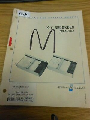 HP/Agilent 7010A/7015A X-Y Recorder Operating and Service Manual Loc: 039