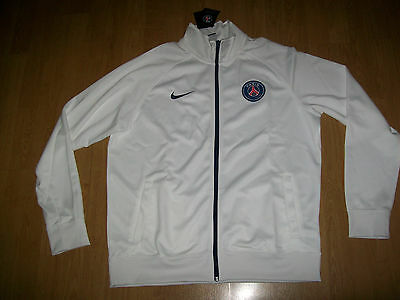 BNWT Paris St Germain PSG shirt (TRACKSUIT JACKET), extra large, UK FREEPOST!
