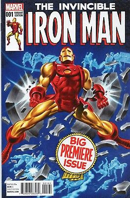 Marvel (2015) The Invincible Iron Man #1, Bruce Timm Classic Variant 1:25 NM/NM+