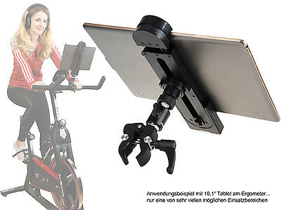 "Photecs® Tablet-Halterung Pro V1, f. iPad Pro & Tablet bis 13"" z.B. am Ergometer"