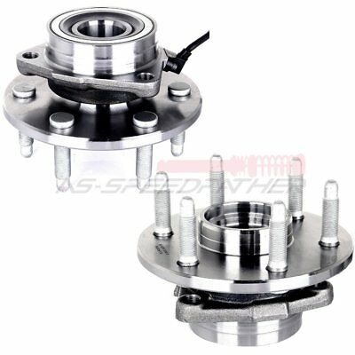 Pair Set Of 2 Front Wheel Hubs & Bearings W/ABS for Chevy GMC Truck 4X4 4WD AWD
