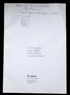 Gould OS300 Oscilloscope Official Instruction Manual