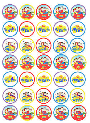 12 or 35 THE WIGGLES Edible Wafer/Rice paper Cake Cupcake toppers PRECUT