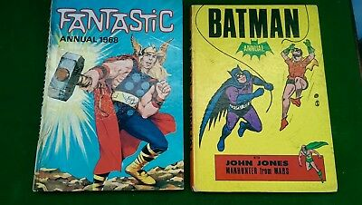 Vintage Batman Annual, Plus Fantastic 1968. Childrens Comic Book Annuals