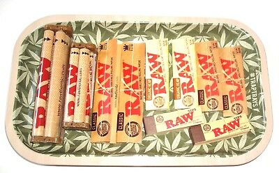 Raw Rolling Tray Bundle - Raw Tobacco Papers, Raw Cigarette Rollers, Roll Tray
