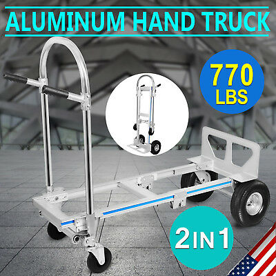 New 770Lbs Hand Truck / Dolly Utility Cart Aluminum Case Shifting Working Wheel