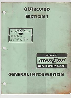 Vintage Mercury Marine 1973 Shop Manual