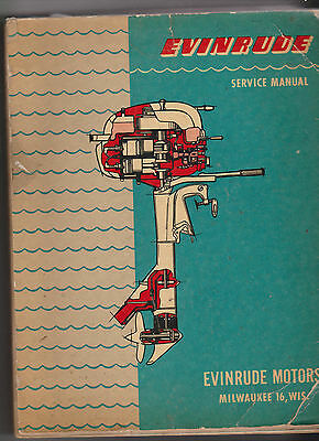 Evinrude Service Manual Outboard Motor Manual 1950's Part # 203365
