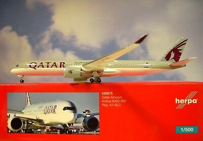 Herpa Wings 1:500  Airbus A350-900  Qatar Airways A7-ALC  530675