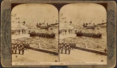 1901 George Rose Stereo Card #3022 of Duke of York Celebrations, Sydney,