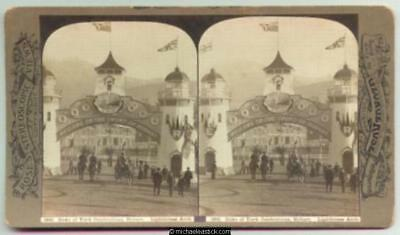 1901 George Rose Stereo Card #3841 of Duke of York Celebrations, Hobart