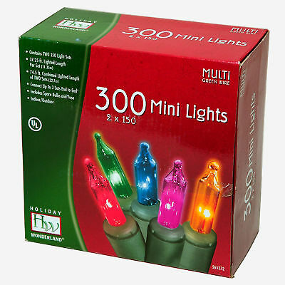 300 count multi color mini christmas lights on white wire 5 95