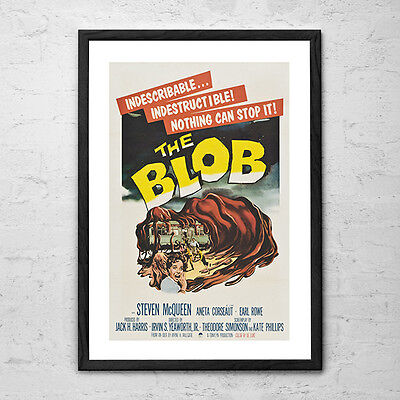 The Blob - Vintage Retro Horror Sci Fi Cult Movie Poster from 1958
