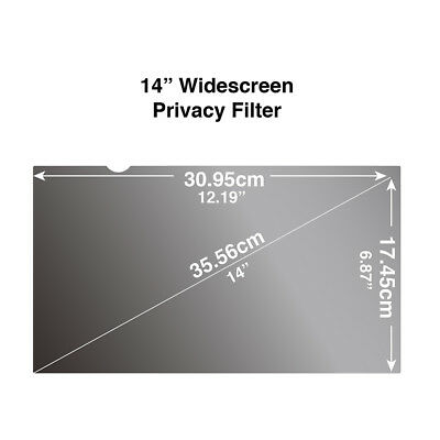 Privacy Filter for Wide Screen Laptop 14inch 16:9 (309 x 174mm) Screen Protector