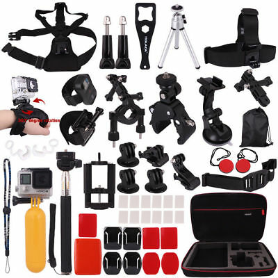 Head Chest Mount Floating Monopod Accessories Kit For GoPro Hero4 Session 2/3+/4