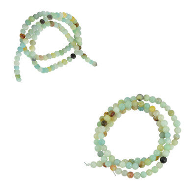4mm Natural Charm Amazonite Gemstone Loose Beads 15'' Strand 2Styles Choose