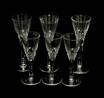 Vintage group of 6 sherry, port & liqueur glasses - 3 tall and 3 shorter