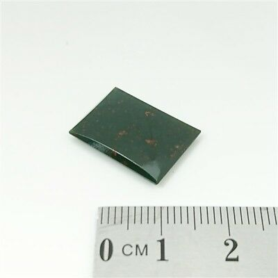 NATURAL BLOODSTONE - 18 x 13mm Rectangle Buff Top Loose Gemstone Brand New